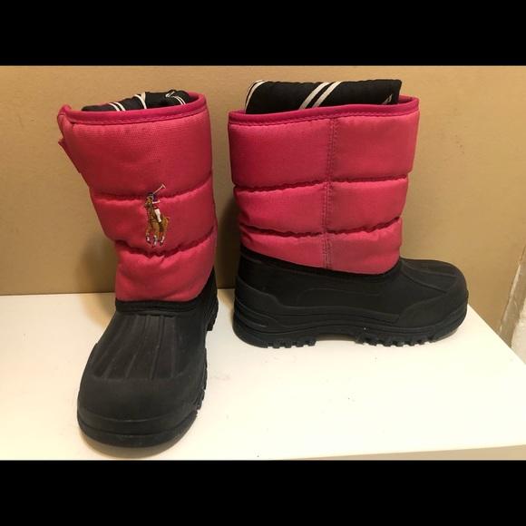 fac0aa157f1 Polo Ralph Lauren kids snow boots size 10